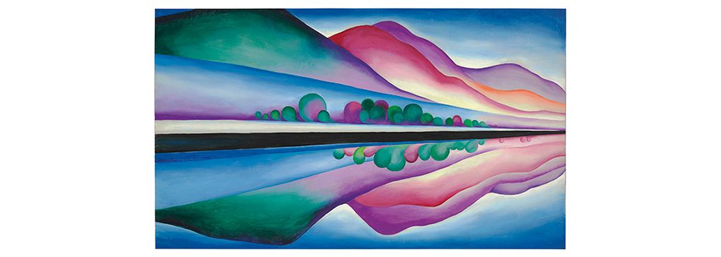 Monday's Feature Art Work: Lake George Reflection by Georgia O'Keeffe