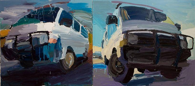 Monday's Feature Art Work: Ben Quilty's Van Rorschach 2005