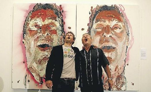 Ben Quilty and Jimmy Barnes