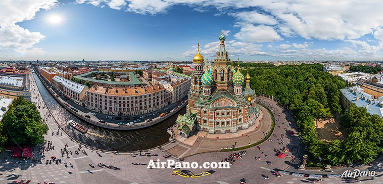 Taking a flight over St Petersburg