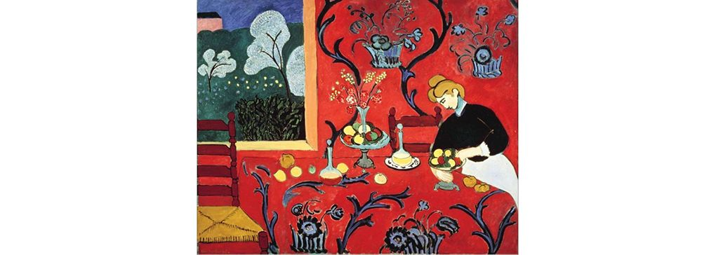 The dessert: harmony in red - by Henri Matisse