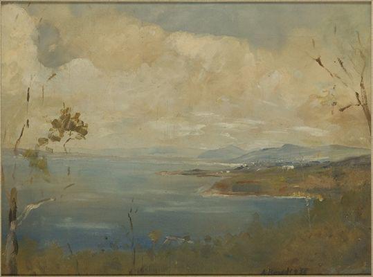Arthur Boyd Arthur's Seat on a misty morning