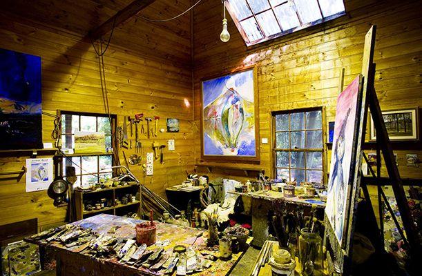 Arthur Boyd's studio as he left it