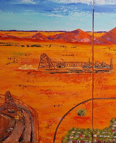 Picnic Train in the Desert Panel 1 by John Wylie