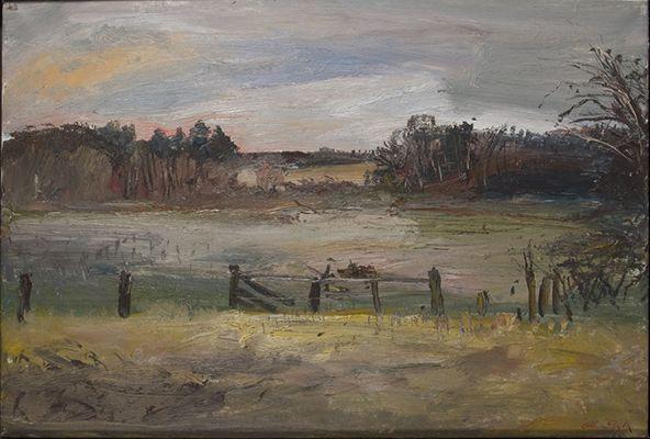 Arthur Boyd Suffolk landscape with fence
