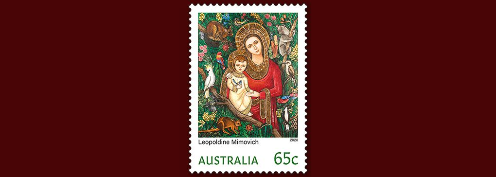 Australian Christmas Stamp in Memory of Poldi Mimovich