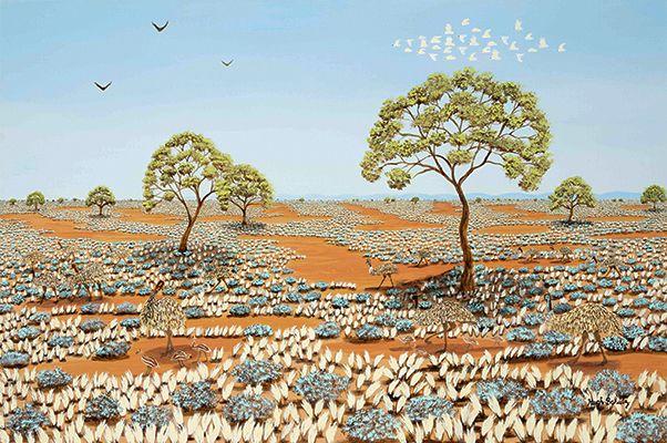 Emus on the Plains Hugh Schulz