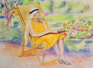 Julie Manet reading