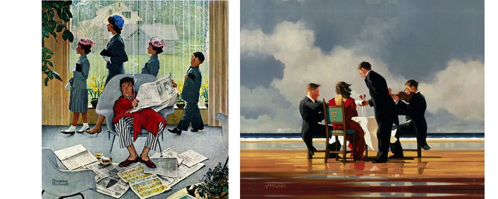 Vettriano and Rockwell
