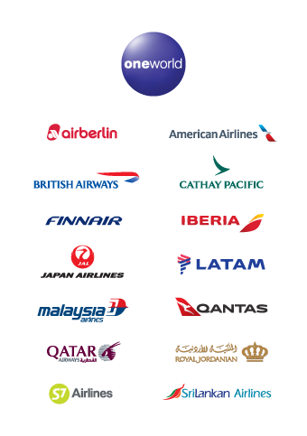 One world airline logos