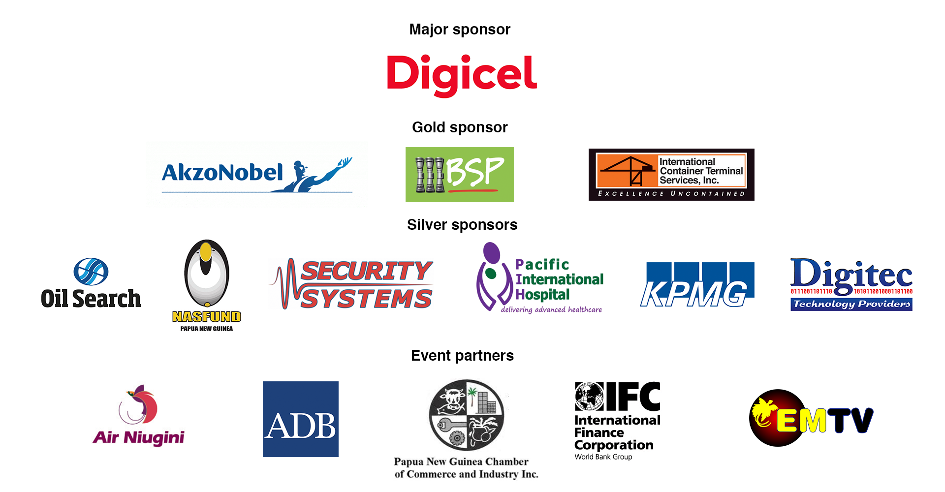 PNG Investment Conference 2018 sponsors