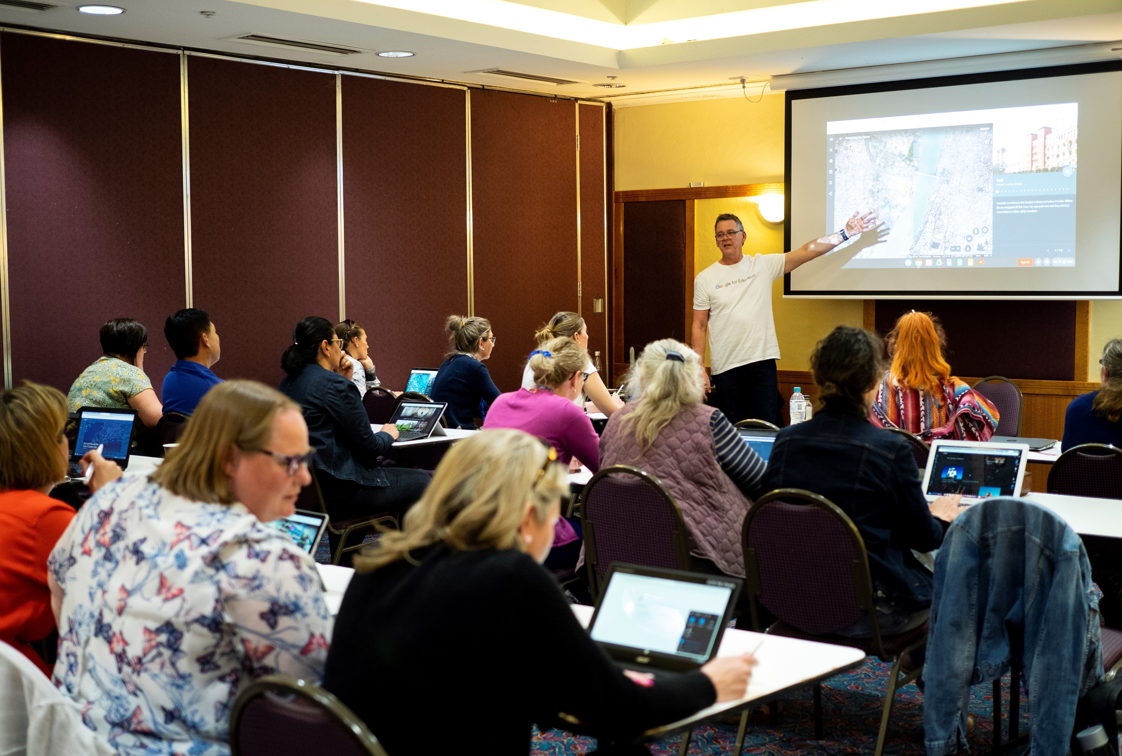 This is an image of the Google session, location TBC