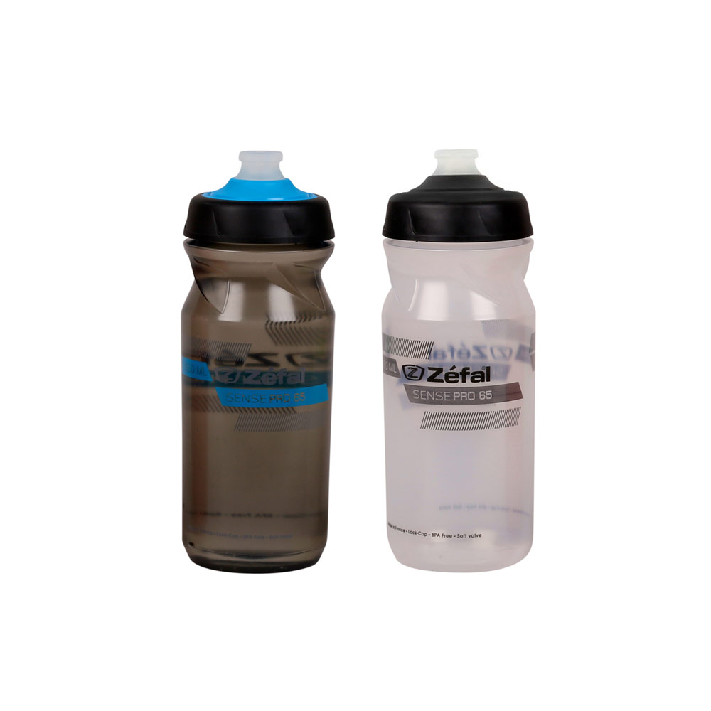 ZEFAL SHARK 65   22oz CLEAR//BLACK WATER BOTTLE