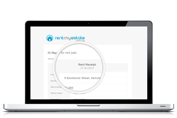 Easily Record Your Tenants Rent Payments Rent My Estate – Tenant Receipt