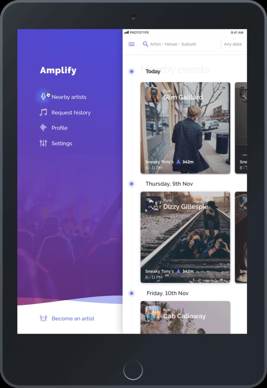 amplify live app ipad