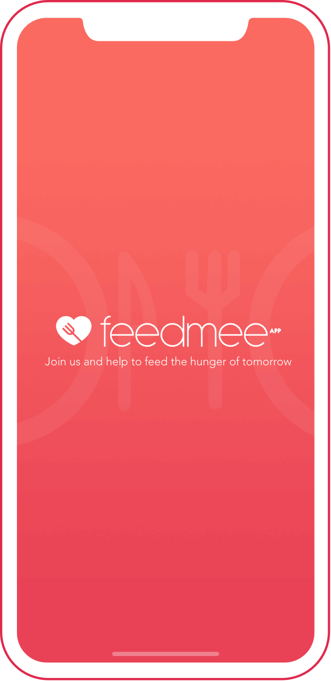 Feedmee app on phone screen