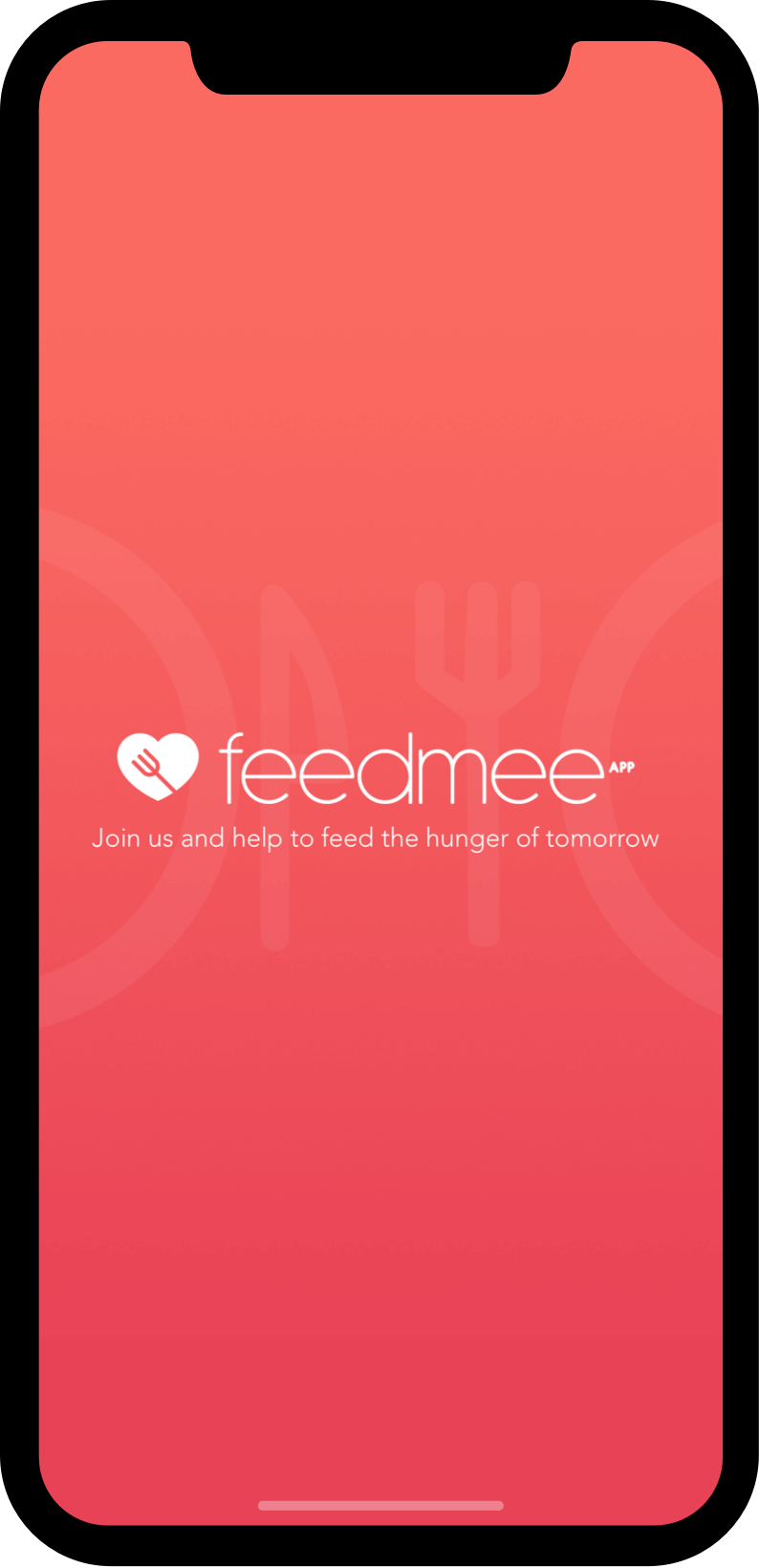 Feedmee app on phone