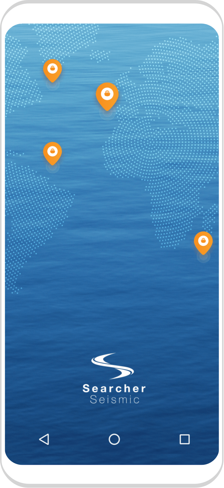 Searcher seismic app on phone screen