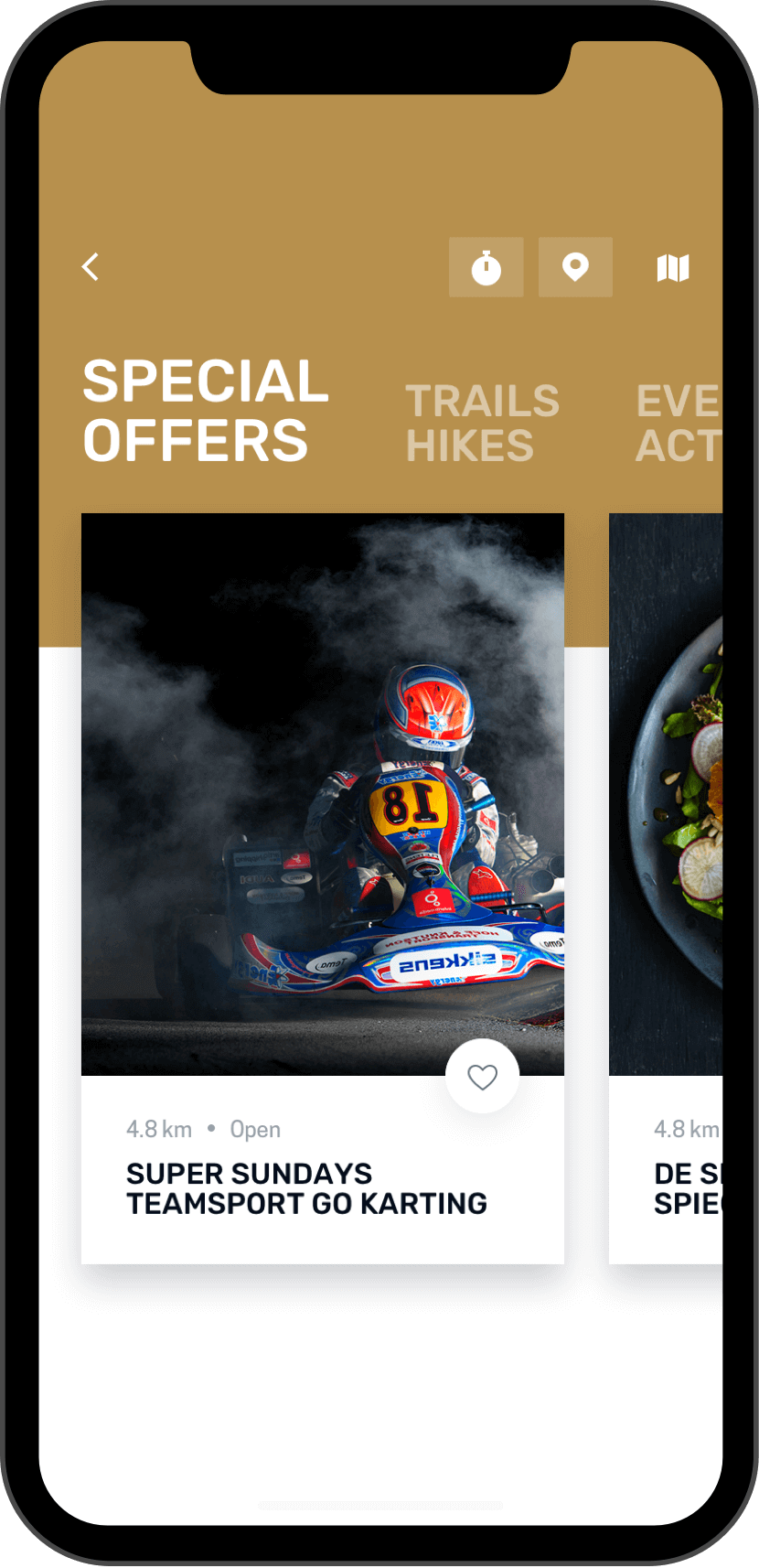 Sydney west app special offers screen on phone