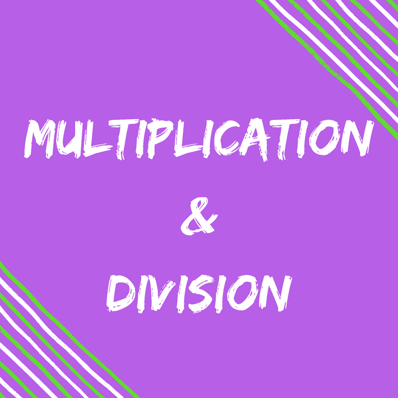 Multiplication & Division Pinterest Boards