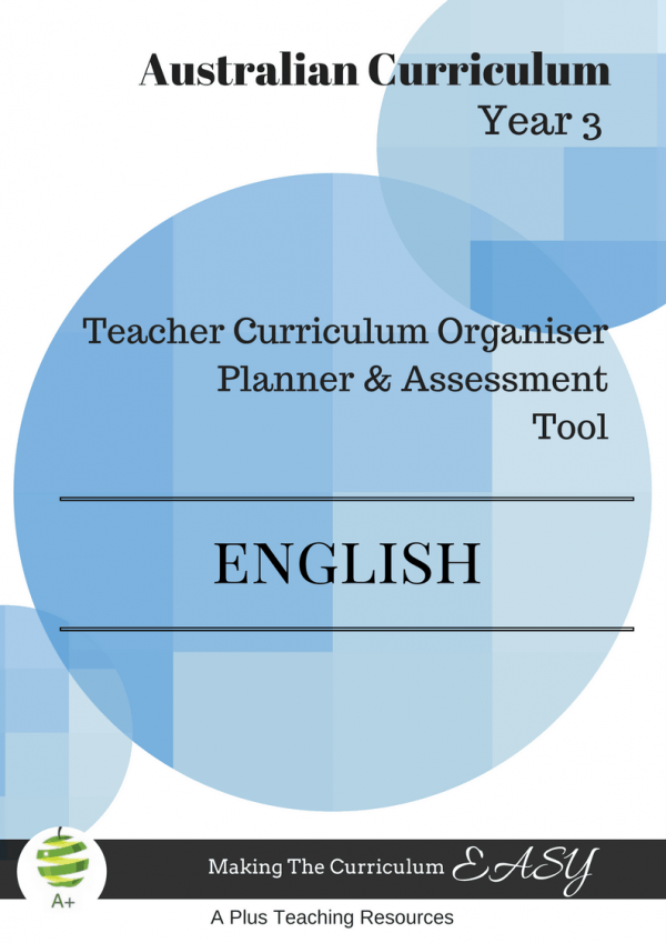 Y3 Teacher Organiser, Planner & Assessment Tool - ENGLISH