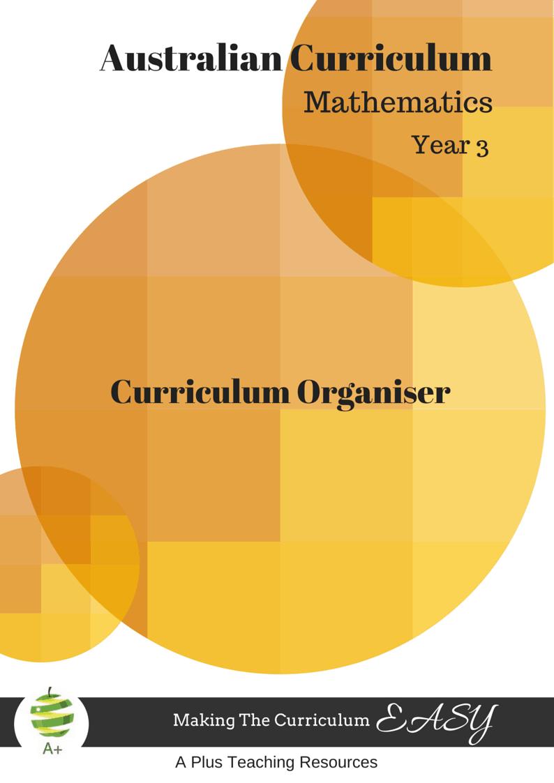 Year 3 Maths Organiser