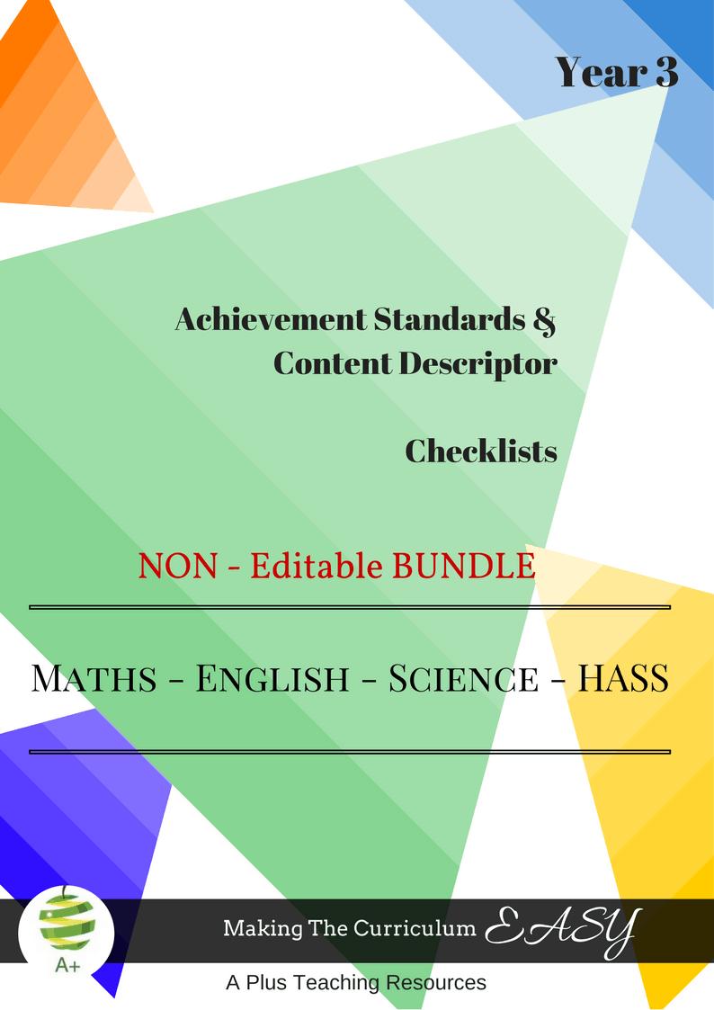 NON Editable Bundles -Y3