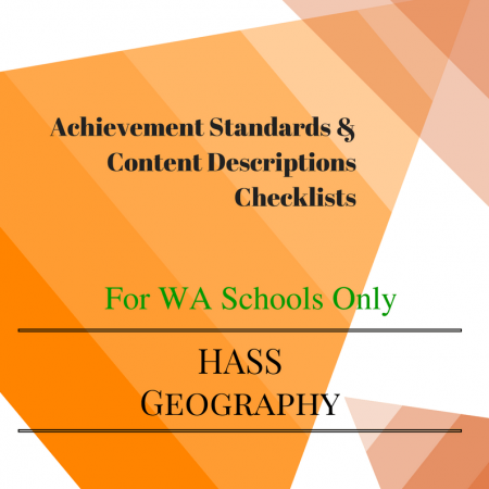 Geography Checklists Year 6 WA