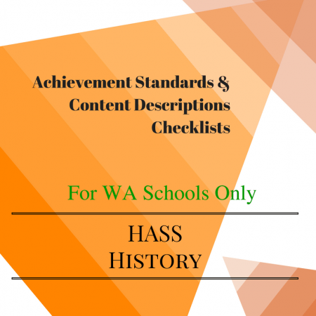 WA History Checklists Year 6