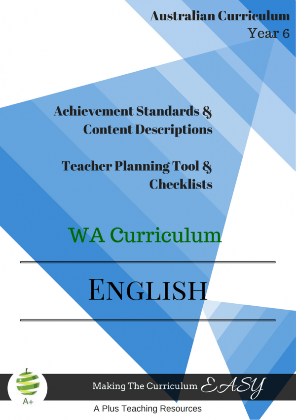WA English Checklists