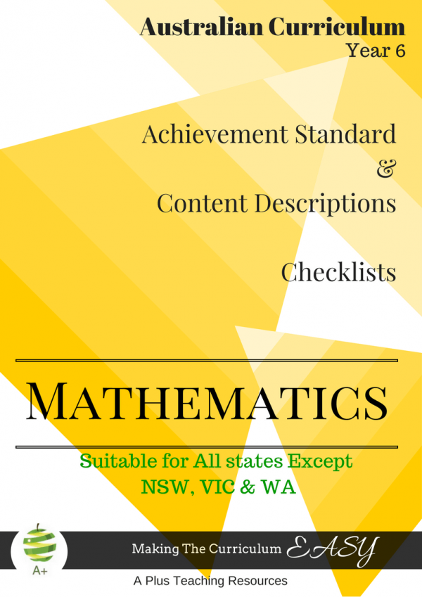 Year 6 All States Maths Checklists