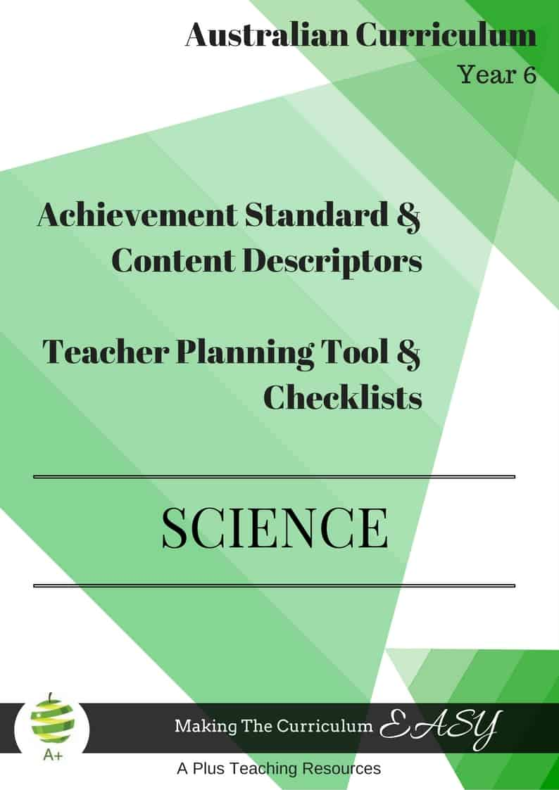 Y6 Editable Science Checklists