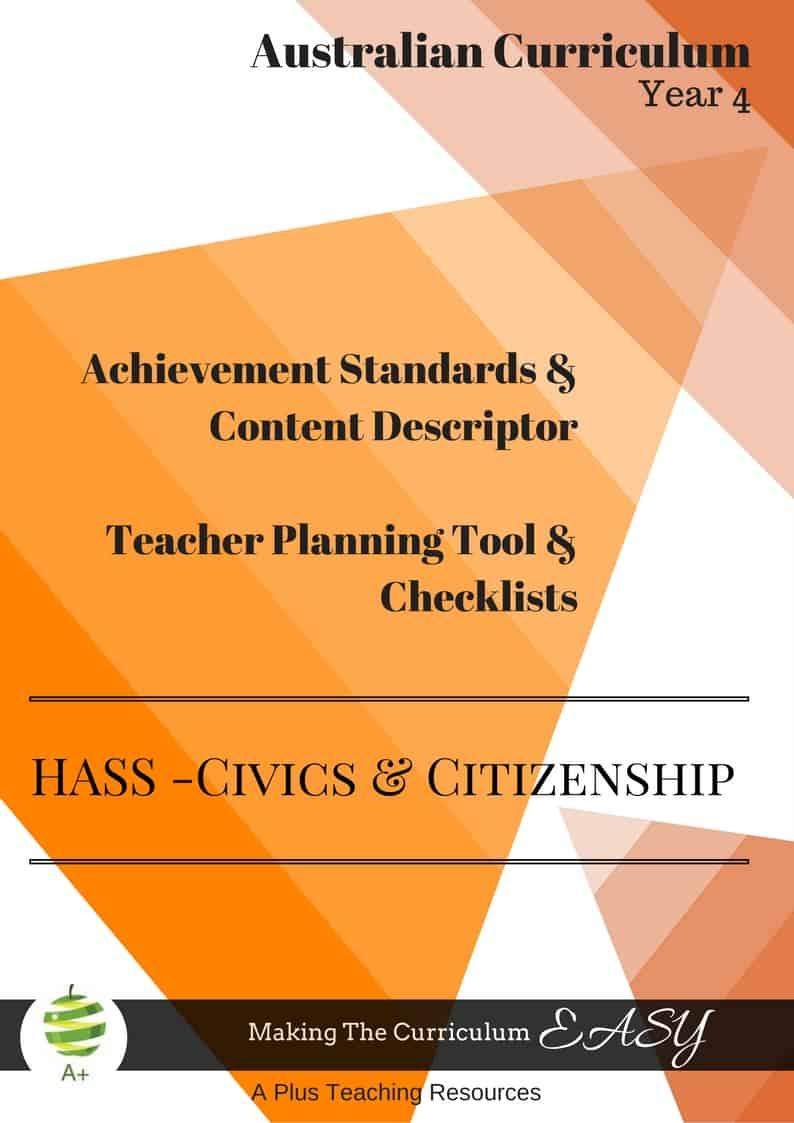 Y4 Editable HASS- Civics & Citizenship