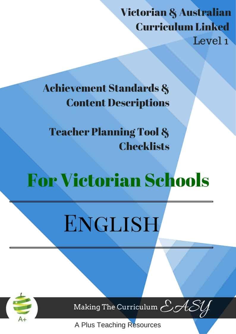 Level 1 ENGLISH Checklists