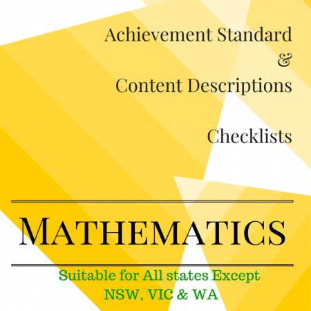 Year 4 All States Maths Checklists