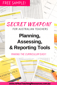 Teacher Planning, Assessing & Reporting Checklists