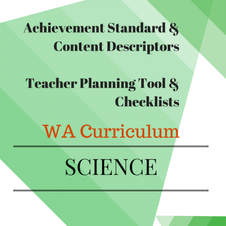 WA Science Curriculum Year 1