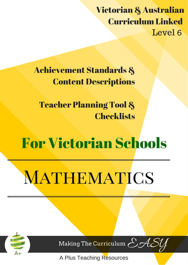 Victorian Curriculum Level 6 maths