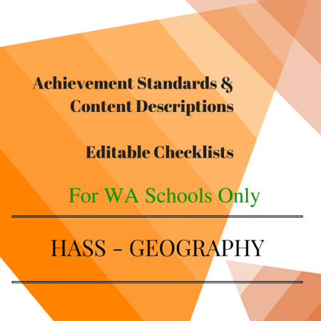 WA HASS Geography - Pre-primary