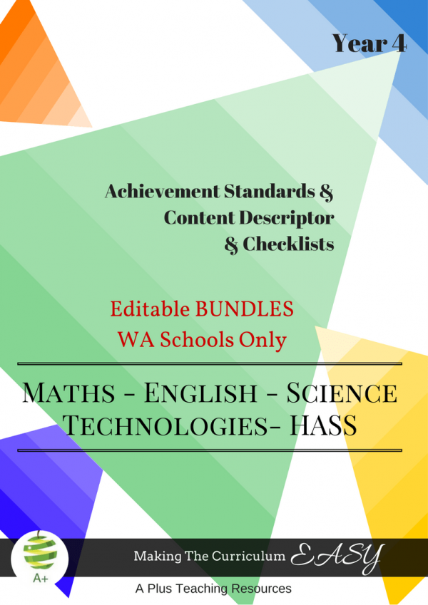 WA - Editable Bundles -Y4