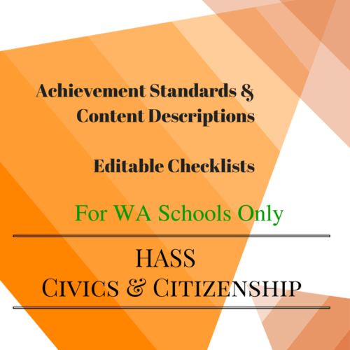 WA HASS Civics -Y 4 Editable