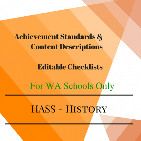 WA HASS Y4 History Checklists