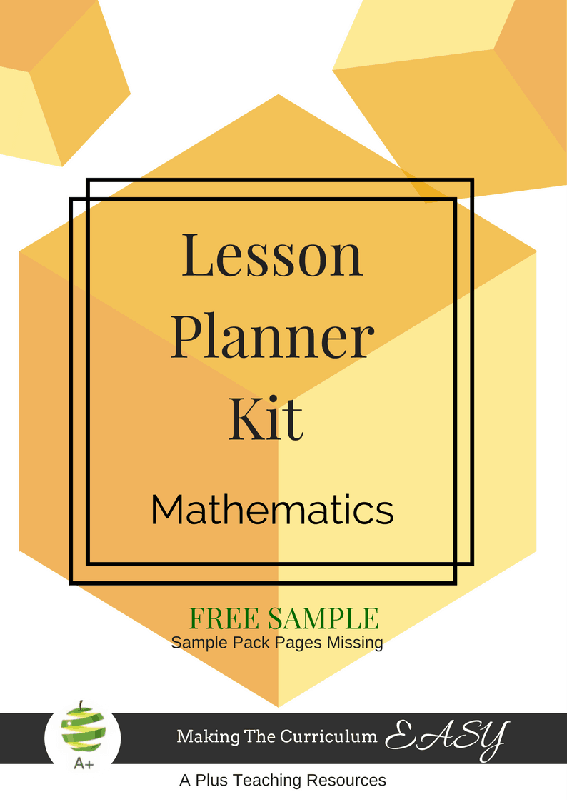 FREE Sample Lesson Planner Kit