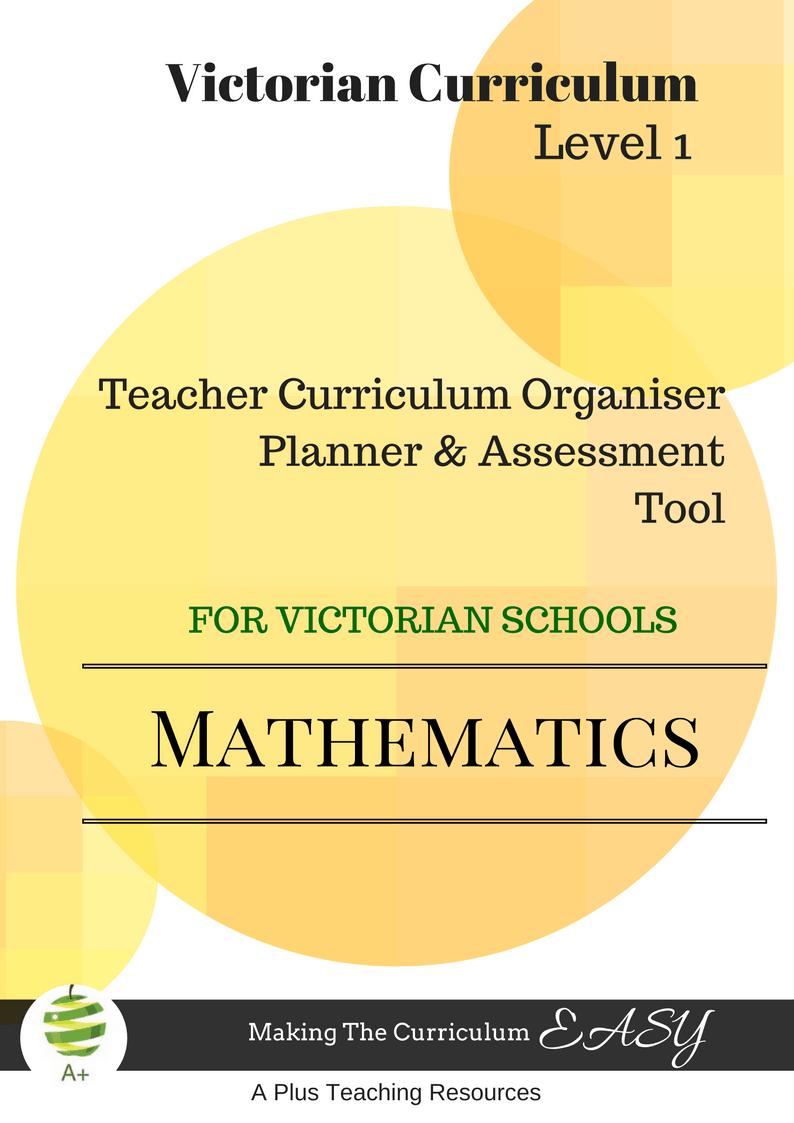 Level 1 VICC Math Organiser