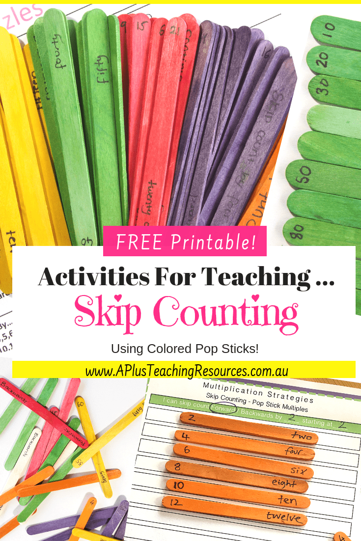 free skip counting printable number games
