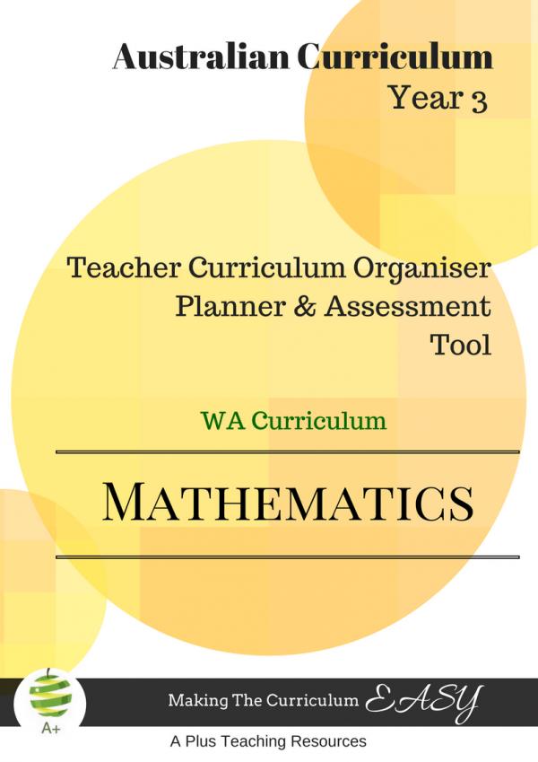 WA Math Organiser Y3