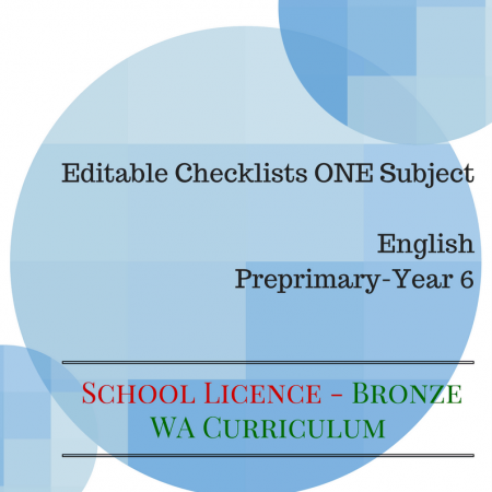 Bronze SCHOOL LICENCE - English WA