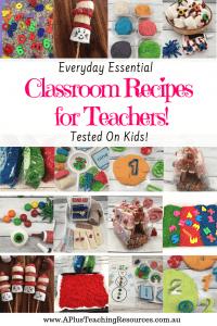 Classroom Recipes for teachers