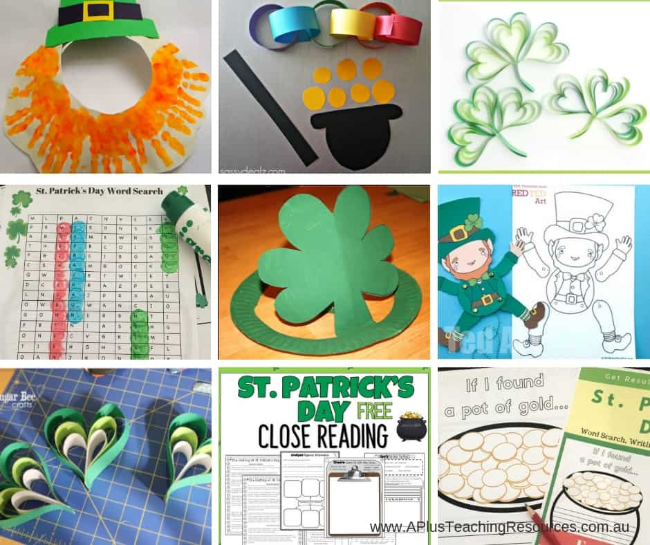 st patrick's day crafts and printables for kids