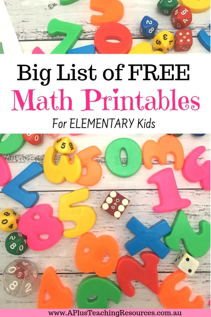 Teaching Numeracy Free Printables